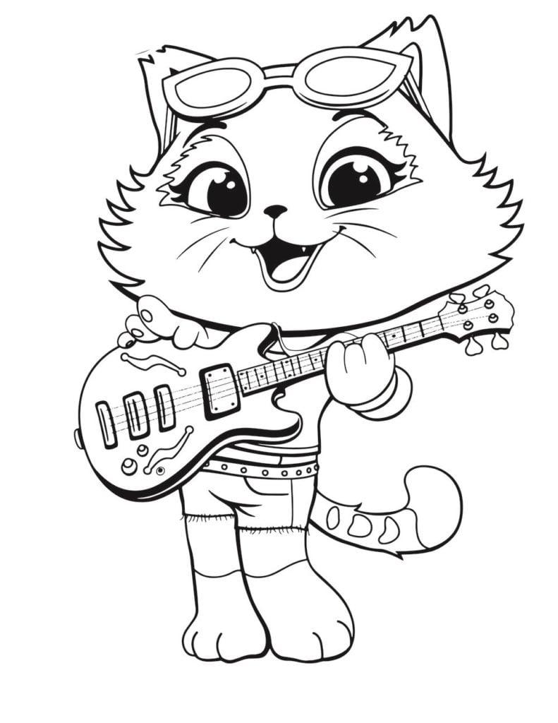 Gatos Para Colorear 8 En 2020 Gatito Para Colorear Paginas Para Colorear Gatos
