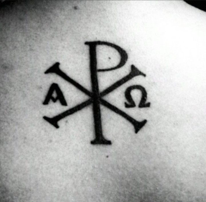 50 Chi Rho Tattoo Designs And Meanings Tattoos Pinterest Chi
