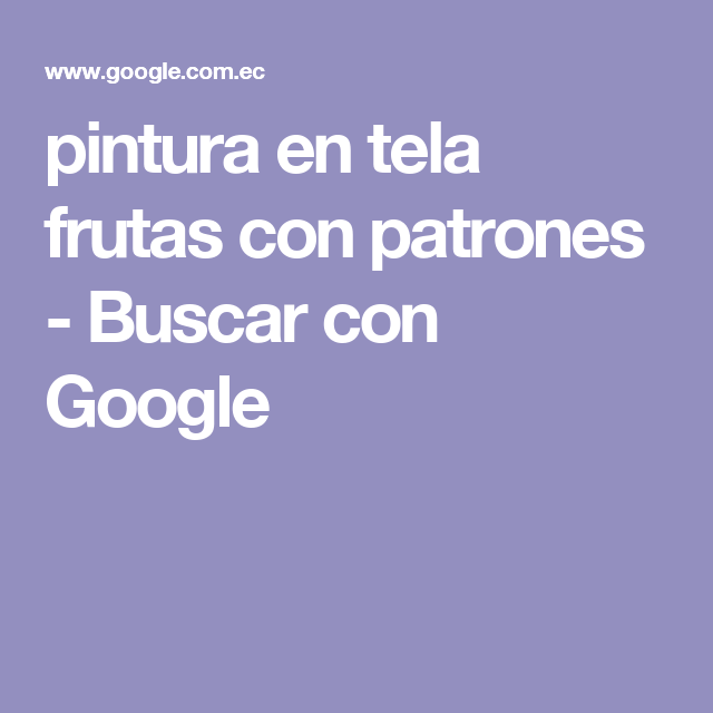 pintura en tela frutas  con patrones - Buscar con Google
