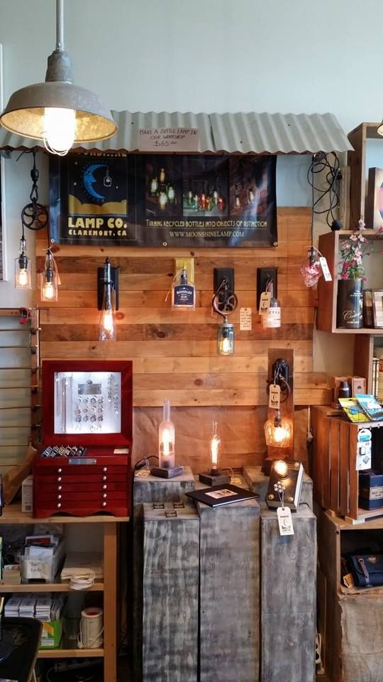 Check out the newly renovated Moonshine Lamp Co. display
