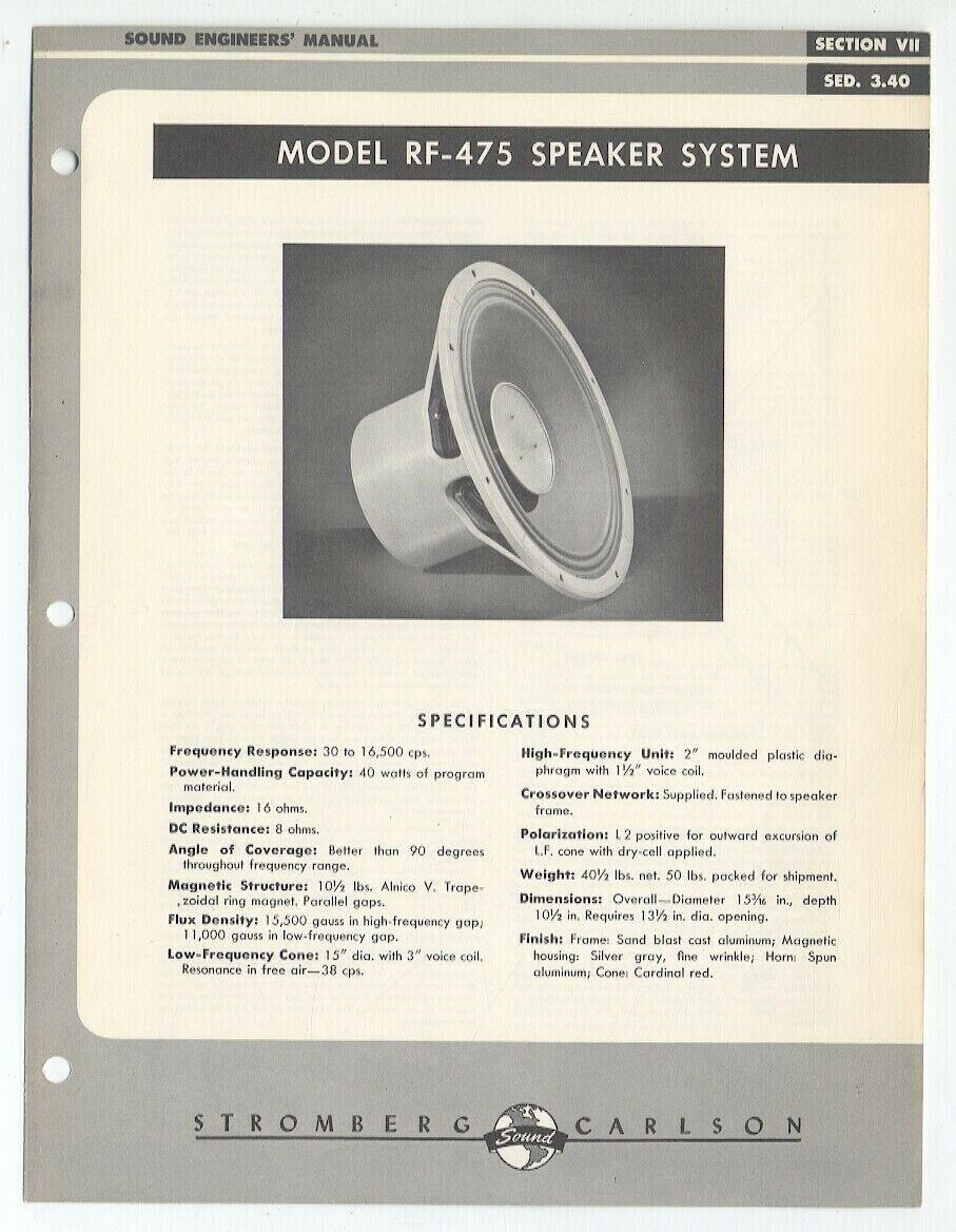 Details about Stromberg-Carlson Sales Brochure 'Sec  VII SED