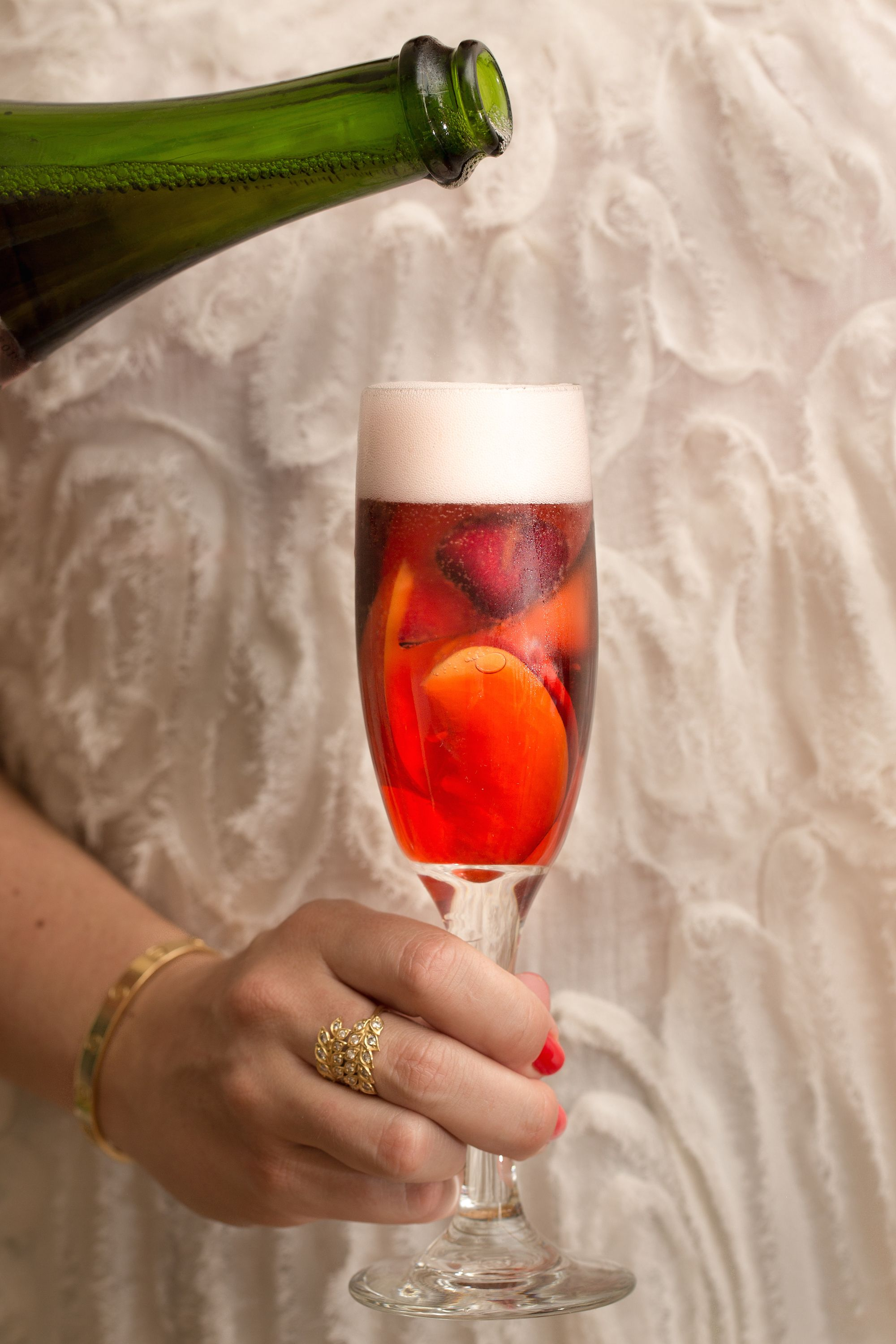 Cava Spritzer With Stone Fruit Stone Fruit Spritzer Spritzer Recipes