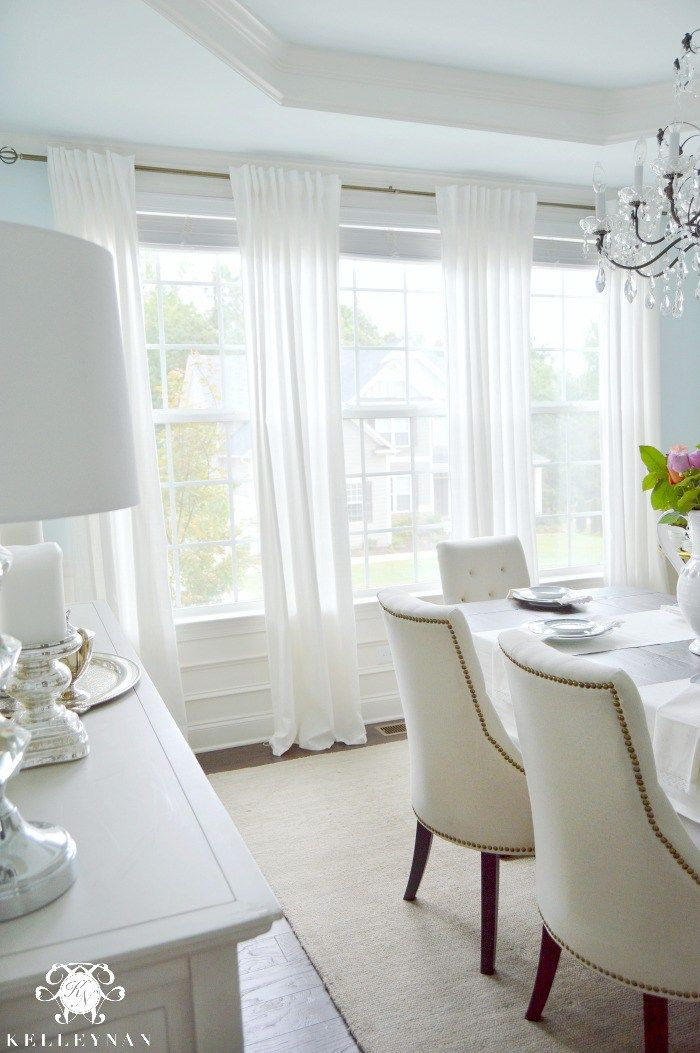 Five Times To Go White In Your Home Dining Room Curtains White
