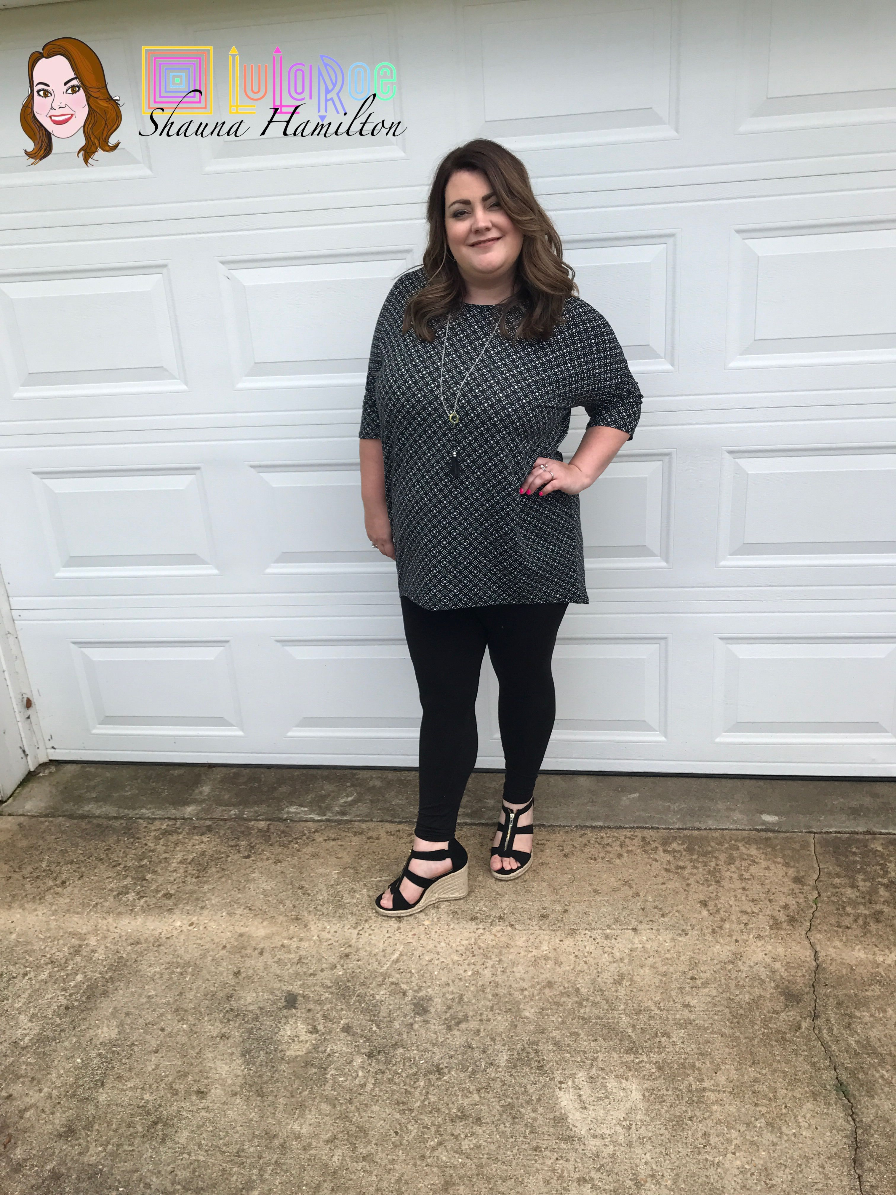 81e346ac381ba7 LuLaRoe Irma Tee and Leggings! Perfect with wedges!! I love this look so  much!!