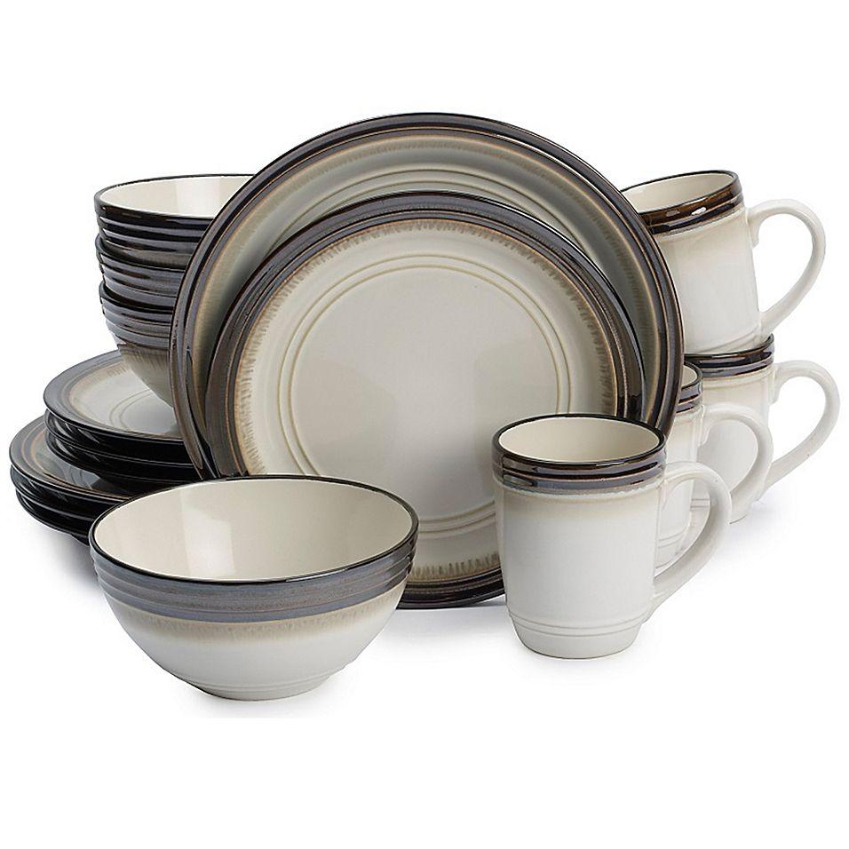 Gourmet Basics By Mikasa Bailey 16 Piece Dinnerware Set Beige In