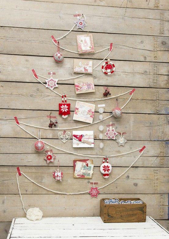 Juletre på veggen