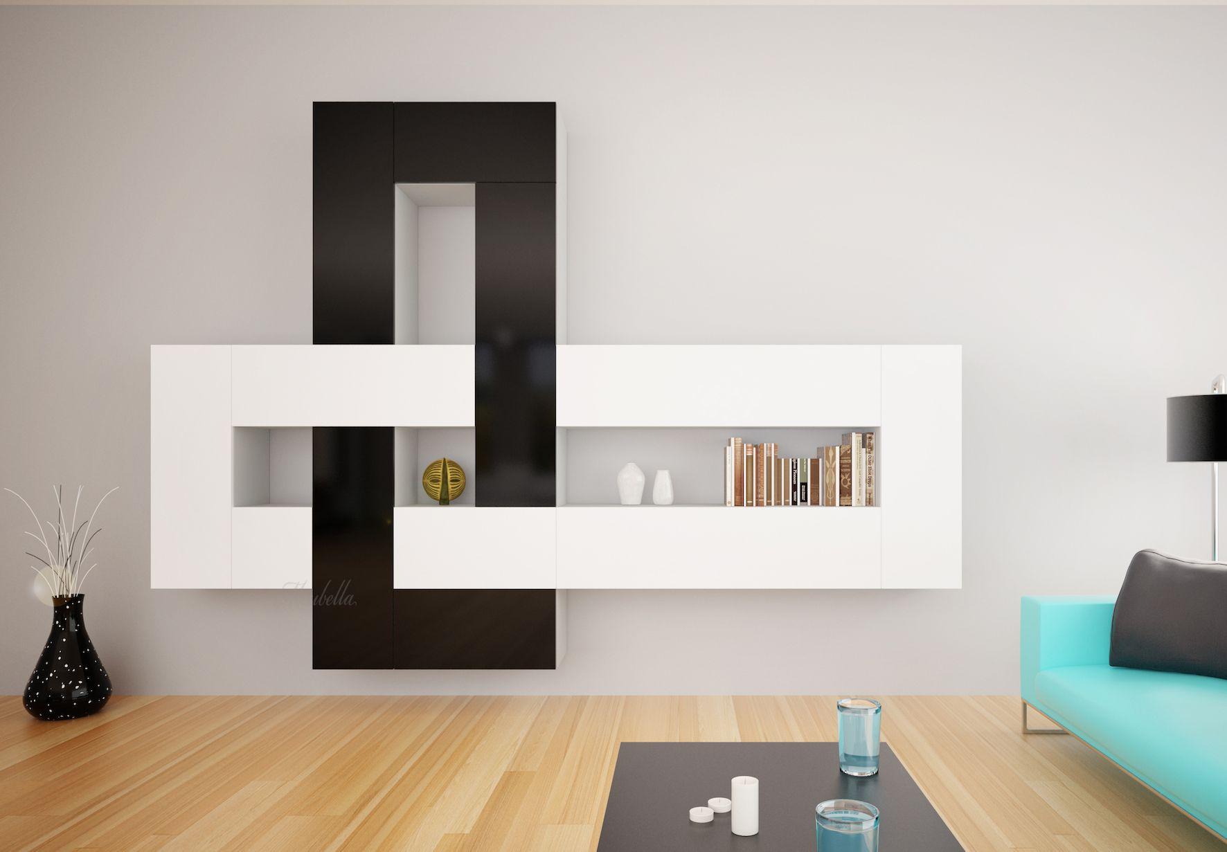 gaaf voor aan de muur, tv kan via ophangbeugel rechtsboven worden ...