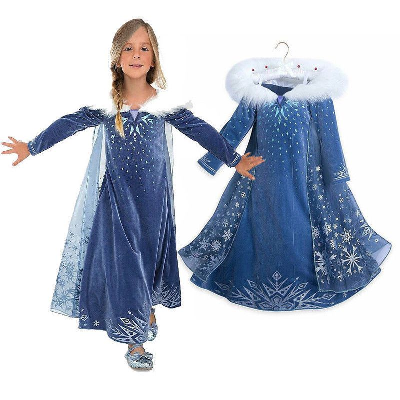 Girls Frozen Elsa Anna Costume Cosplay Party Princess Fancy Dress Crown  Gift  fashion  clothing  shoes  accessories  costumesreenactmenttheater   costumes ... d21eb6f100fd