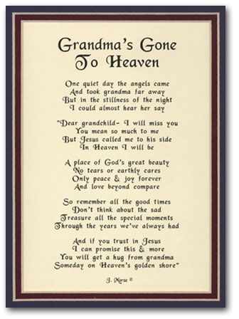 Missing Grandma Quotes on Pinterest | Grandmother Quotes ...