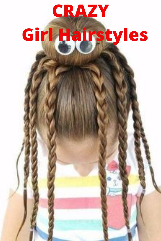 Crazy Girl Hairstyles Kids Hairstyles Hair Styles Halloween Hair