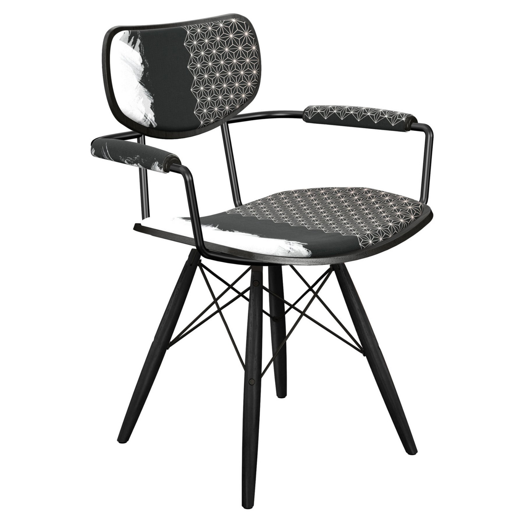 Nyekoncept Harvey Starlight Abstraction Dowel Arm Chair  16007934