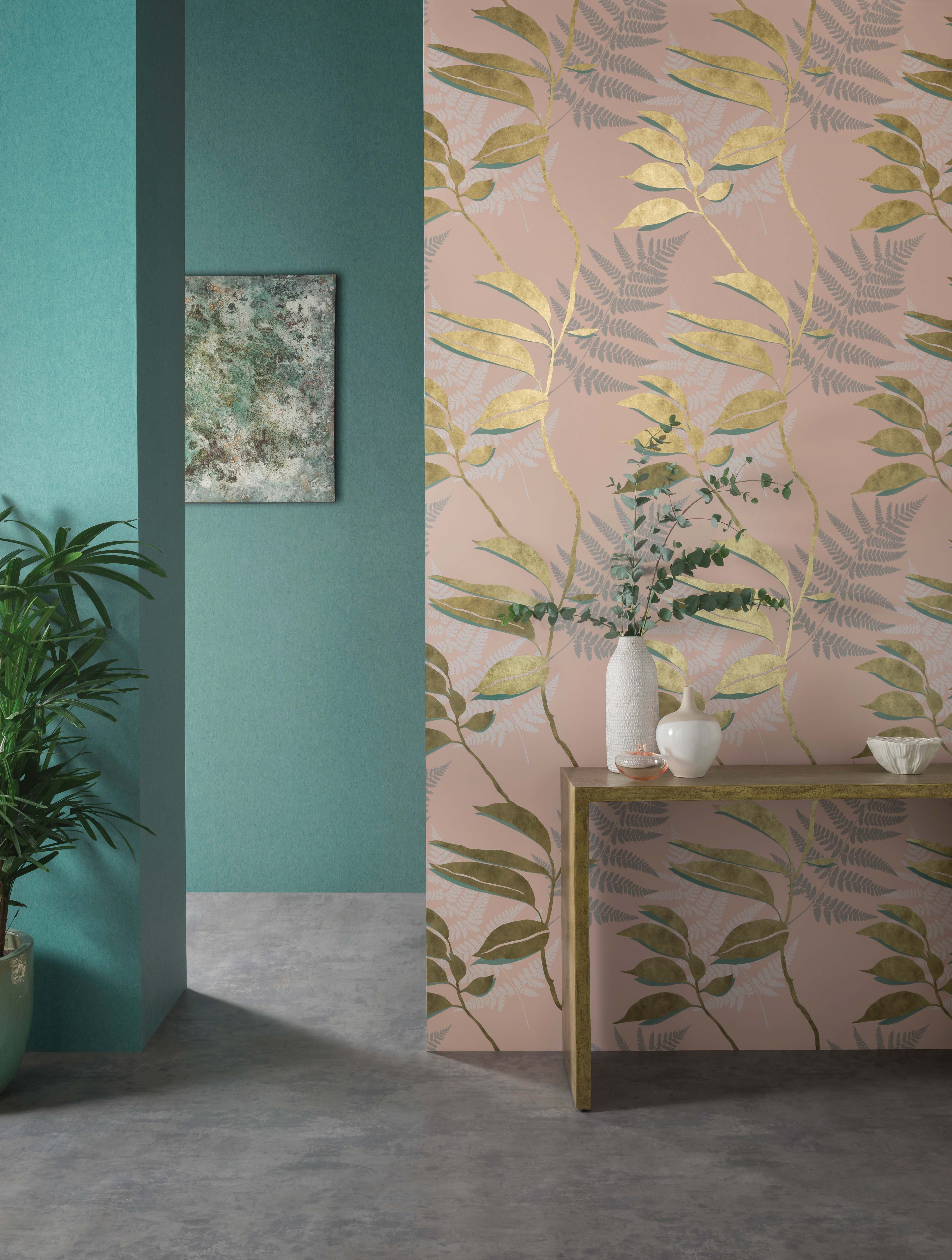 Feuille Dor Wallpaper By Osborne Little Osborne And Little Wallpaper Gold Wallpaper Osborne Little