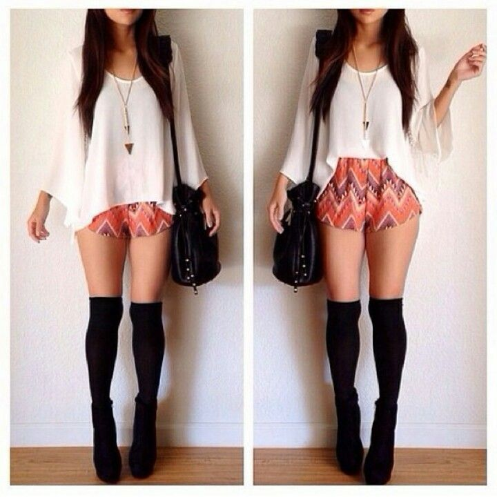 Simple but nice outfit. So obsess with knee high stockings lately.