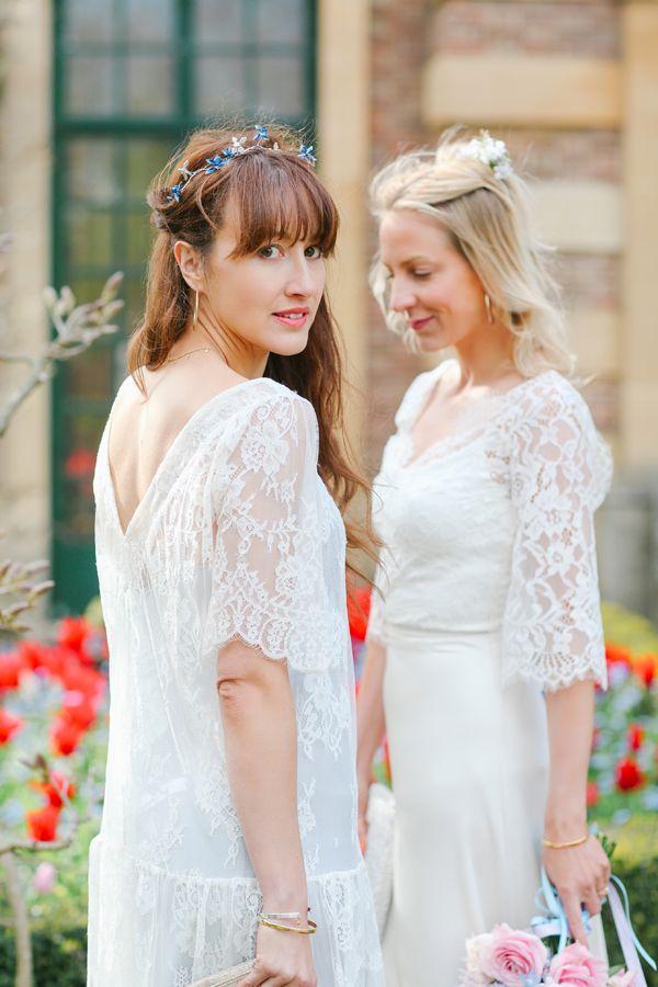 belle & bunty eltham palace lace sleeve vintage inspired wedding ...