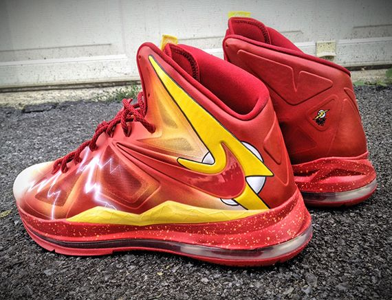 "more photos 37994 08ffb Nike LeBron X ""The Flash"" by Mache Customs"