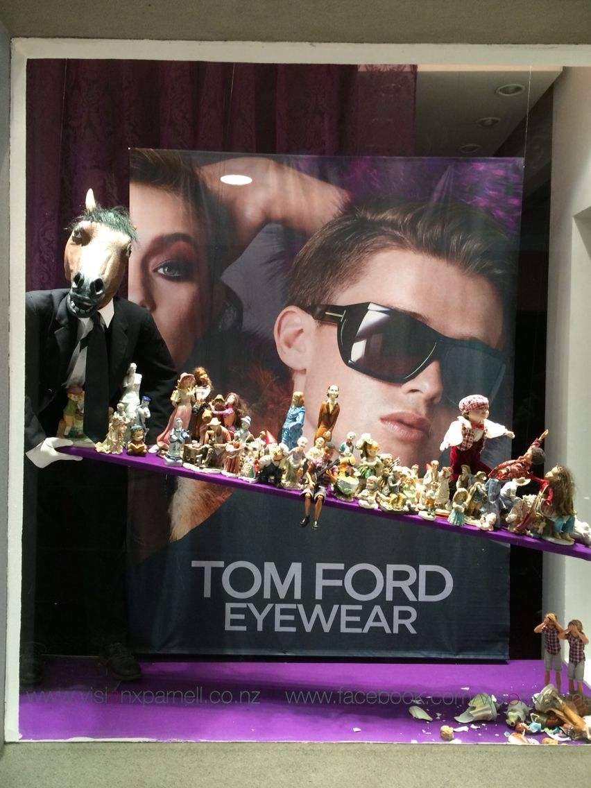 Vision X Parnell Auckland New Zealand Work Horse For Tom Ford Eyewear Created By Ton Van Der Veer Tom Ford Eyewear Work Horses Visual Merchandising