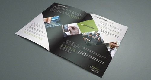003 bi fold corporate brochure template vol 1 editorial deisgn