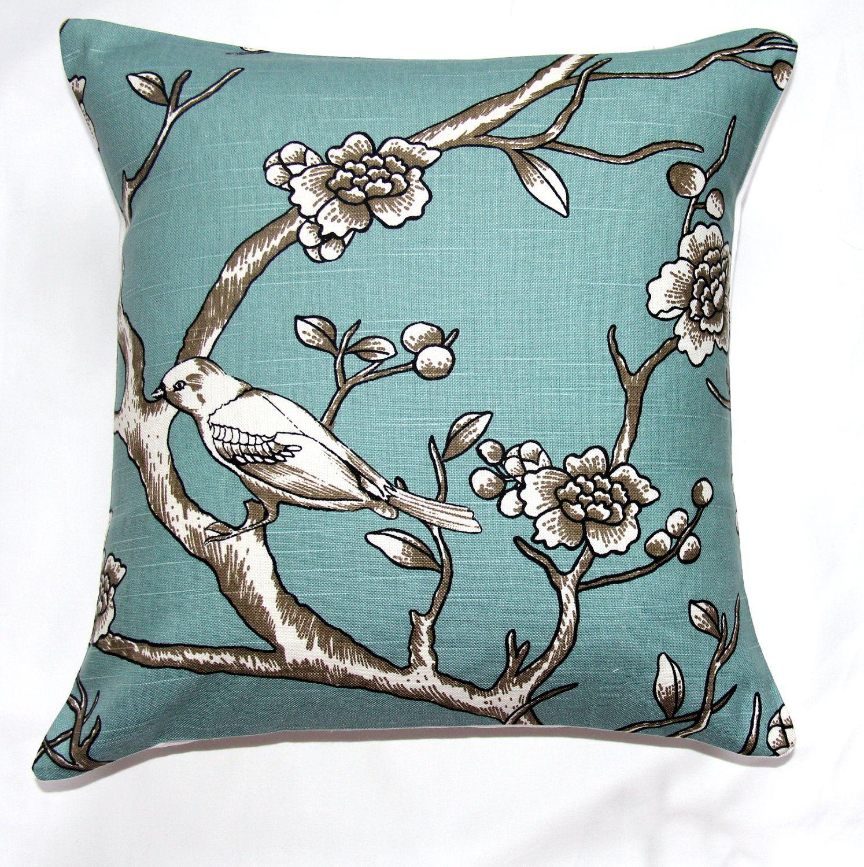 pillow accent pillow throw pillow vintage blossom azure dwell  - new designer pillow decorative pillow accent pillow throw pillow vintageblossom azure dwell studio decorative pillow