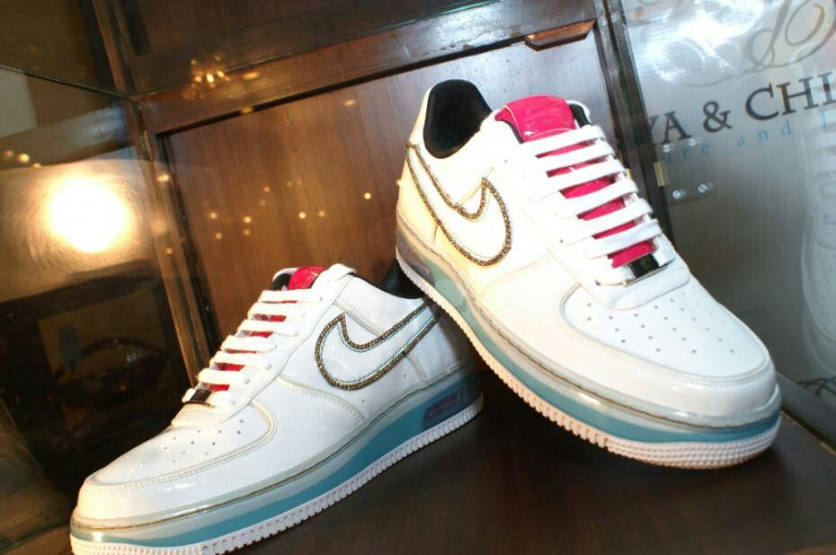 Diamond-studded Air Force 1 by Nike  c9b45f4a74