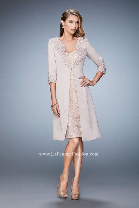 690bad7712 La Femme 21903 Wedding Guest Dress with Jacket  French Novelty