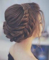 Schöne Hochzeitsfrisuren zur Ergänzung Ihres Hochzeitskleides – Haare #Geflochten …