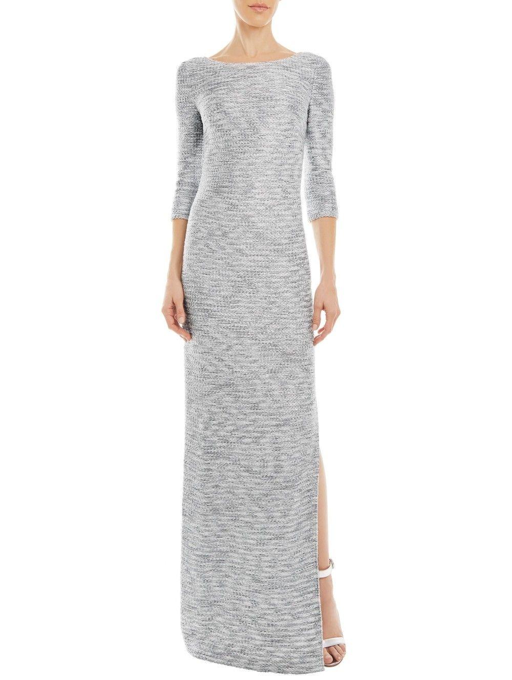 Glint+Knit+Bateau+Neck+Dress