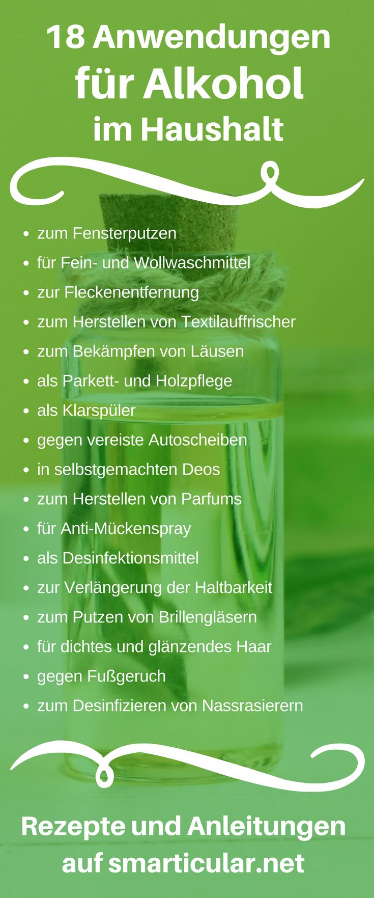 alkohol im haushalt 18 anwendungen des vielseitigen helfers zero waste plastic free green. Black Bedroom Furniture Sets. Home Design Ideas