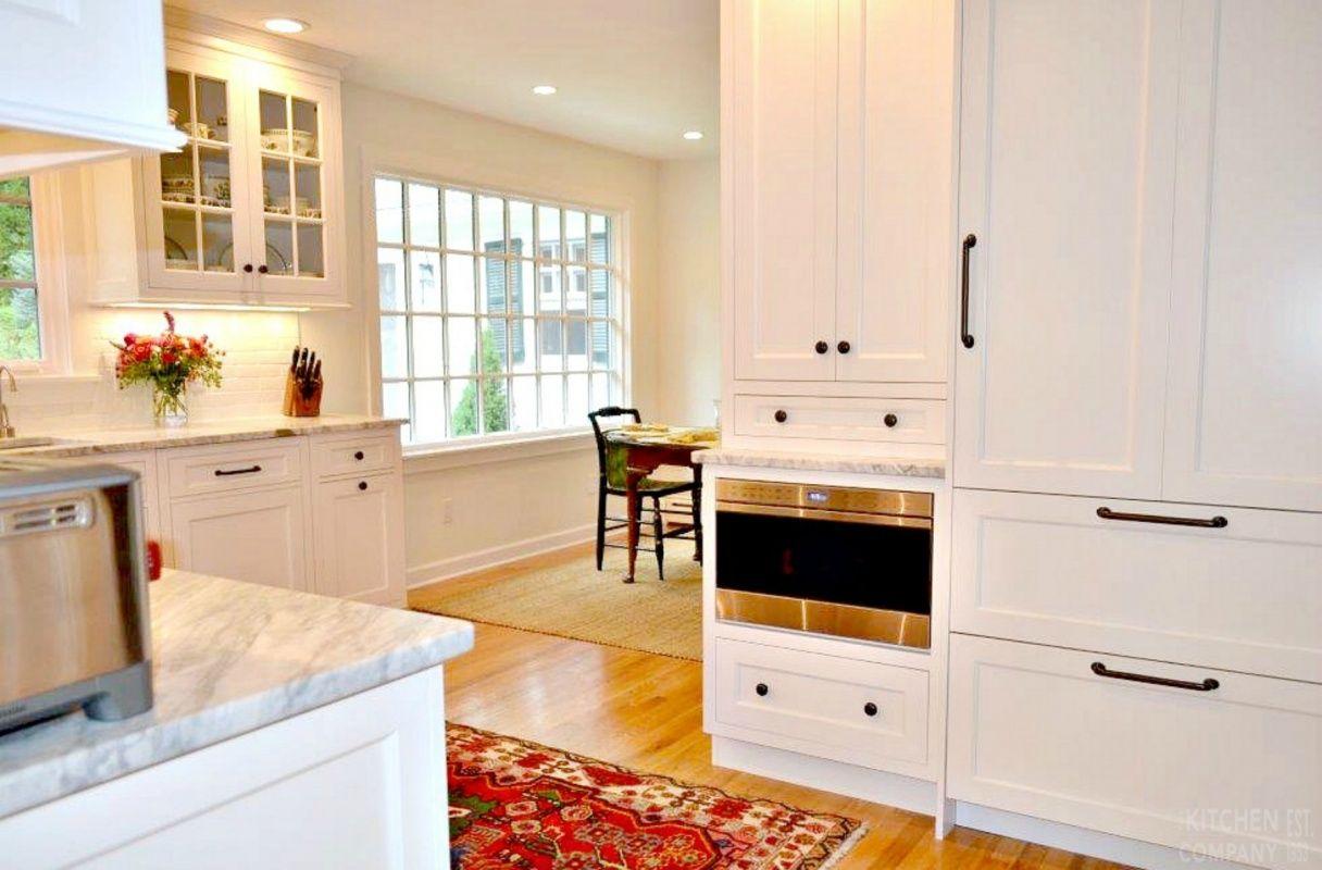 Brookhaven kitchen cabinets finishes - White Transitional Kitchen Cabinetry Woodmode Brookhaven Cabinets With Nordic White Finish Countertops Calcutta