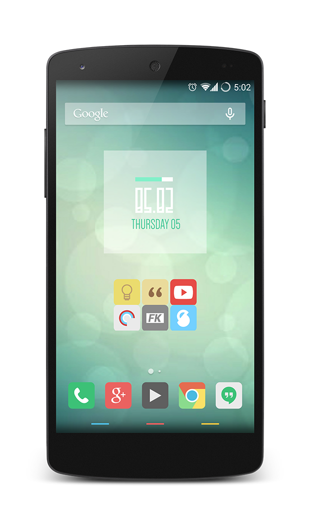 15 Stunning Nexus 5 Homescreen Customizations