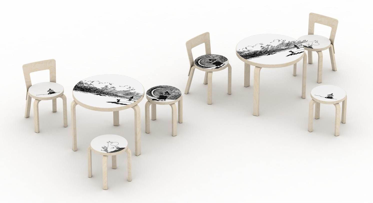 The beloved Moomins begin new adventures on Artek's Classic Furniture!