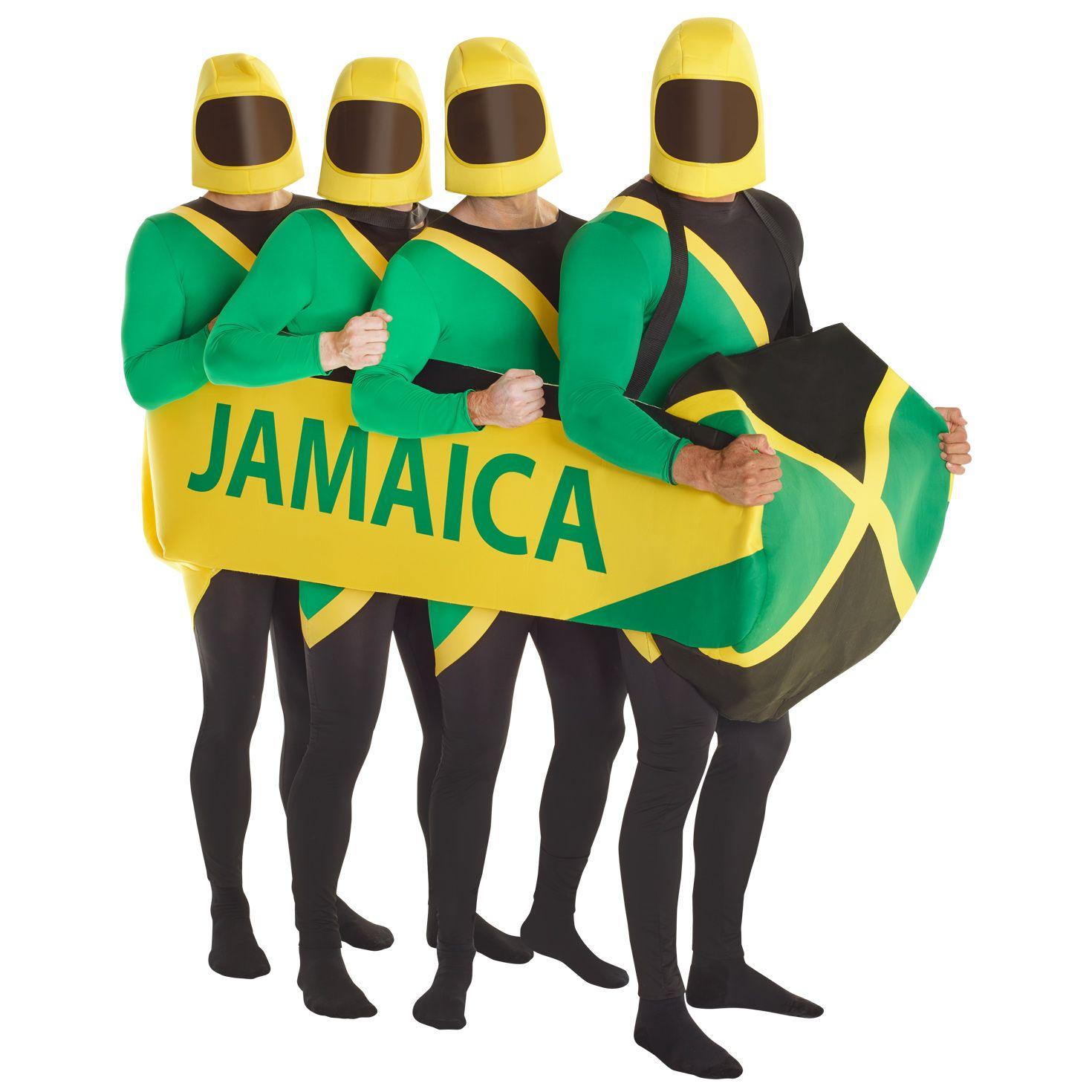 Adult Jamaican Hero Fancy Dress Costume Bobsleigh Bobsled Team Sports Rasta Mens
