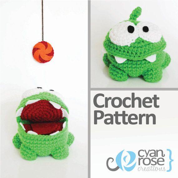 Om Nom Crochet Pattern - Instant Download - Om Nom, from Cut The ...