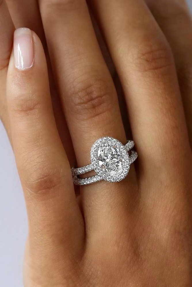 30 Wedding Ring Sets That Make The Perfect Pair | Pinterest | Halo ...