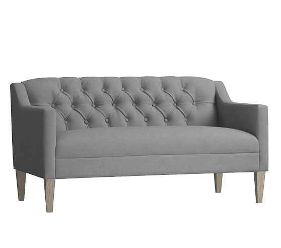 Luella Tufted Settee Settee Furniture Furniture Tufted