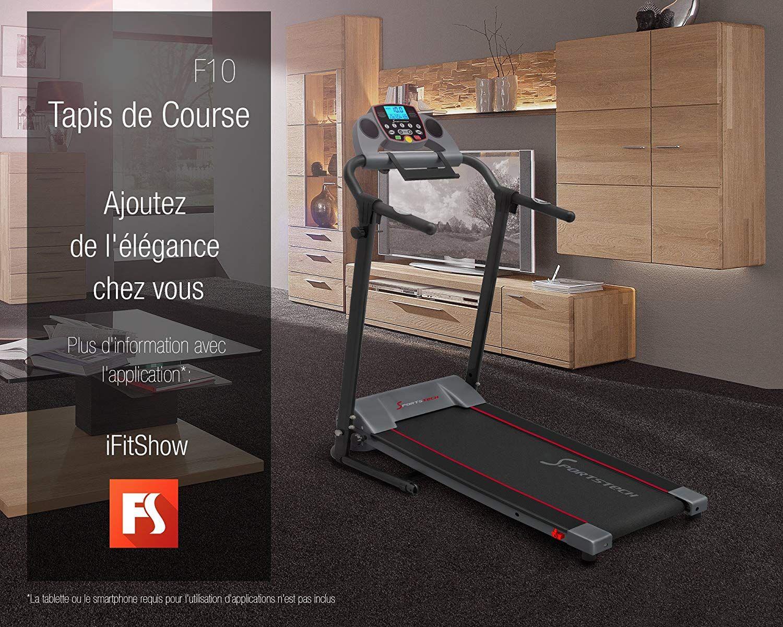Sportstech Tapis de Course électrique Pliable F10