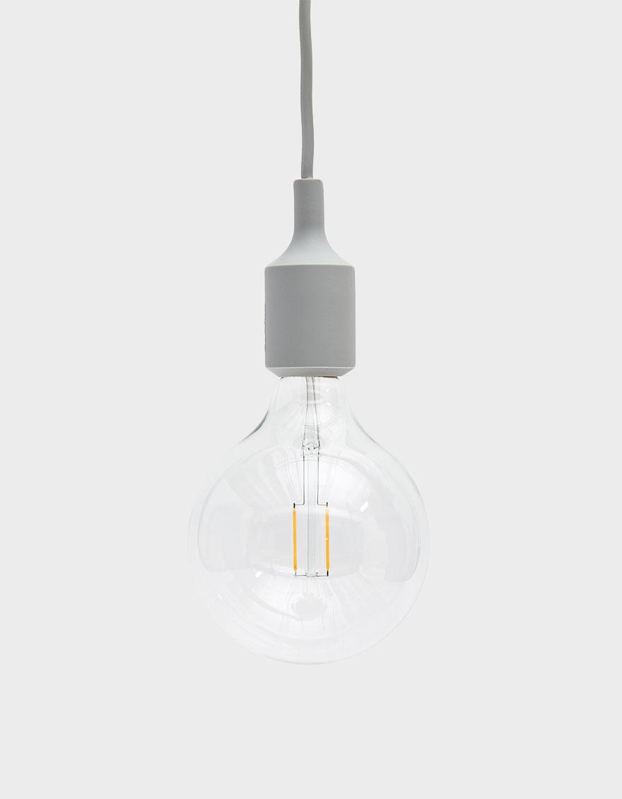 Muuto E27 Pendant Lamp In Light Grey Pendant Lamp Lamp Bulb Pendant Light