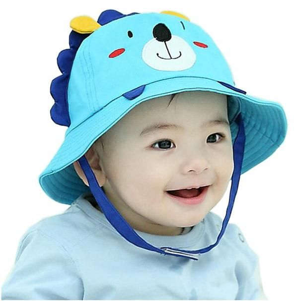 20d7dc32f70 Cute Baby Sun Hat Girls Hats Cap Newborn Photography Props Boys Hats  Children Cap Kids Beach Bucket Caps for Summer Autumn