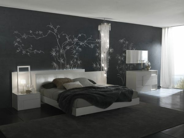 beleuchtung im schlafzimmer kristall kronleuchter nachtlampe future home pinterest. Black Bedroom Furniture Sets. Home Design Ideas