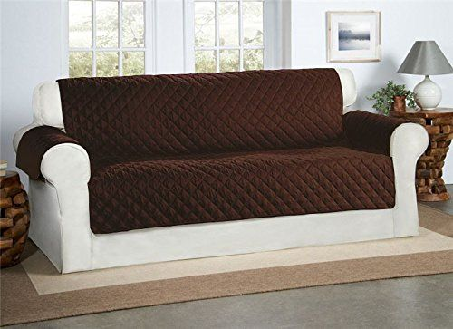 Superbe Safari Homeware Chocolate / Brown 3 Seater Sofa Cover   Settee Couch  Quilted Luxury Water Resistant