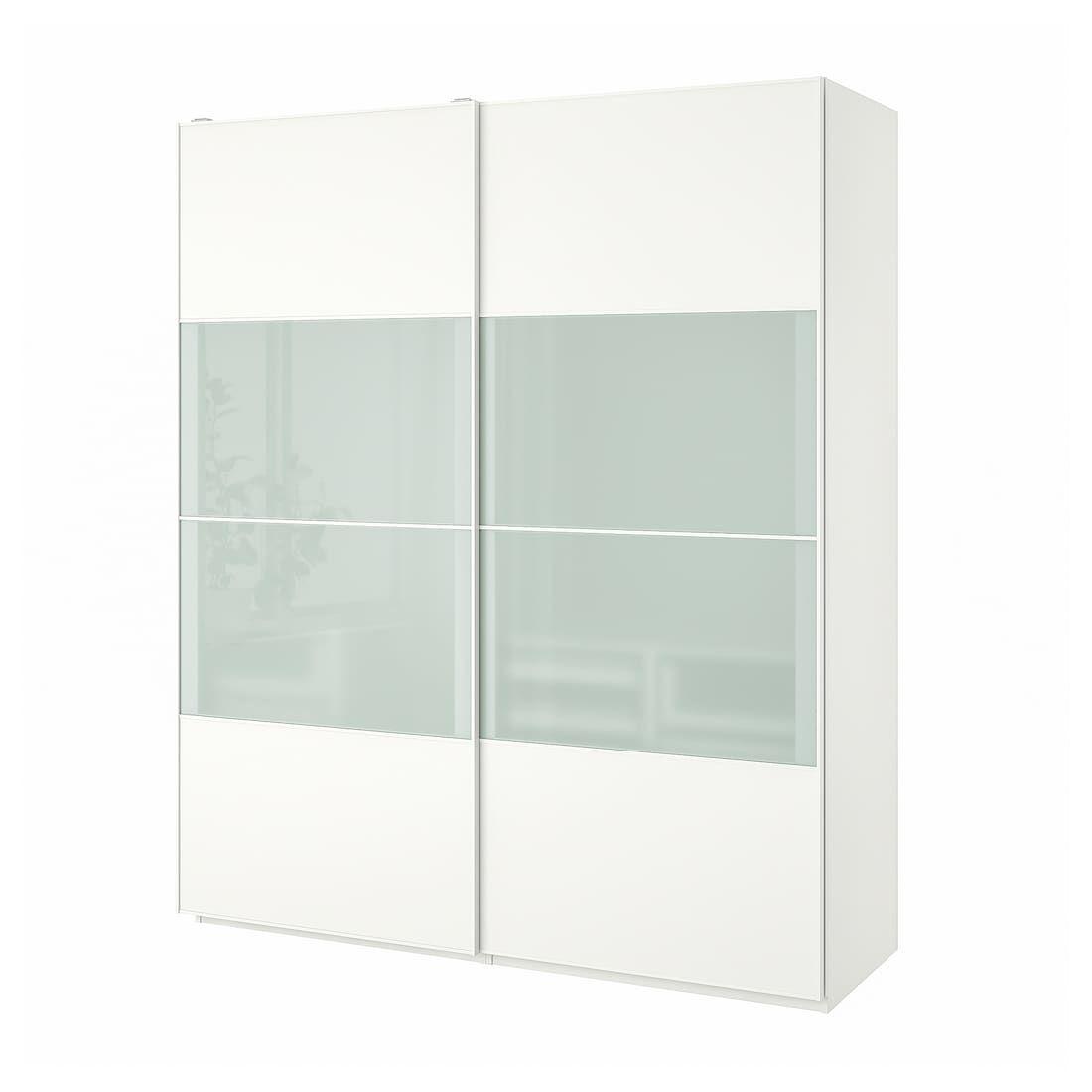"""PAX Wardrobe white, Mehamn Sekken 78 3/4x26x93 1/8 """" in"""