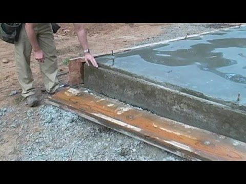 When Can You Remove The Forms After Pouring Concrete Slab Youtube Pouring Concrete Slab Concrete Slab Poured Concrete