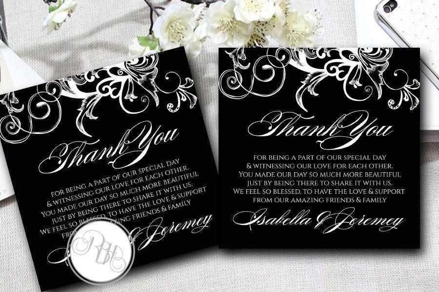 Elegant Wedding Thank You Template INSTANT DOWNLOAD DIY