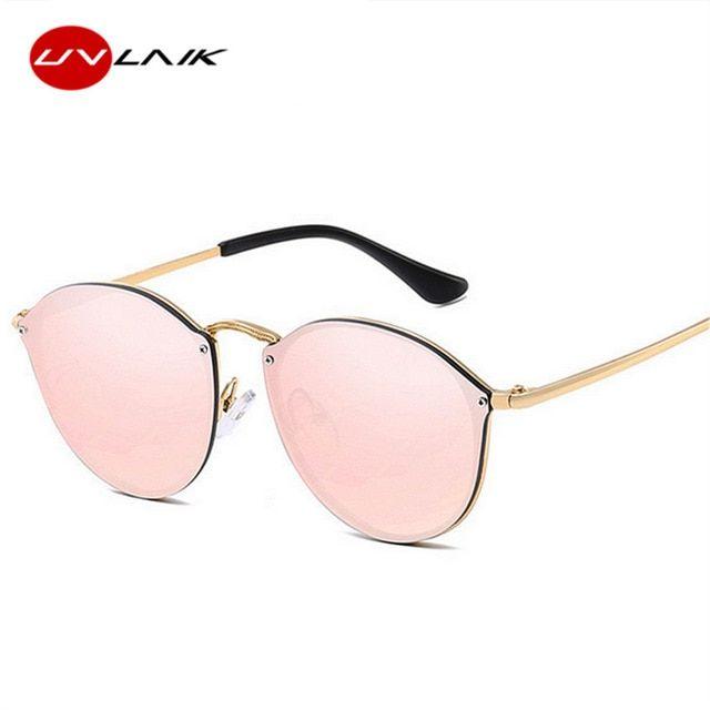 7cf5b961cea UVLAIK 2019 Cat Eye Sunglasses Women Luxury Rimless Sun Glasses Retro  Coating Frameless Sunglass Ladies Brand