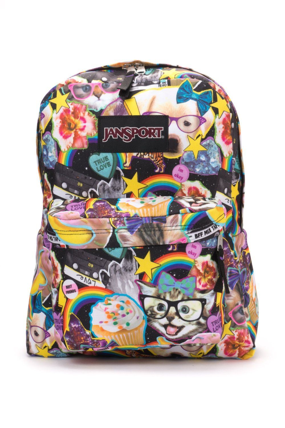 Jansport Black Label Hairball Kitty Cat Tiger