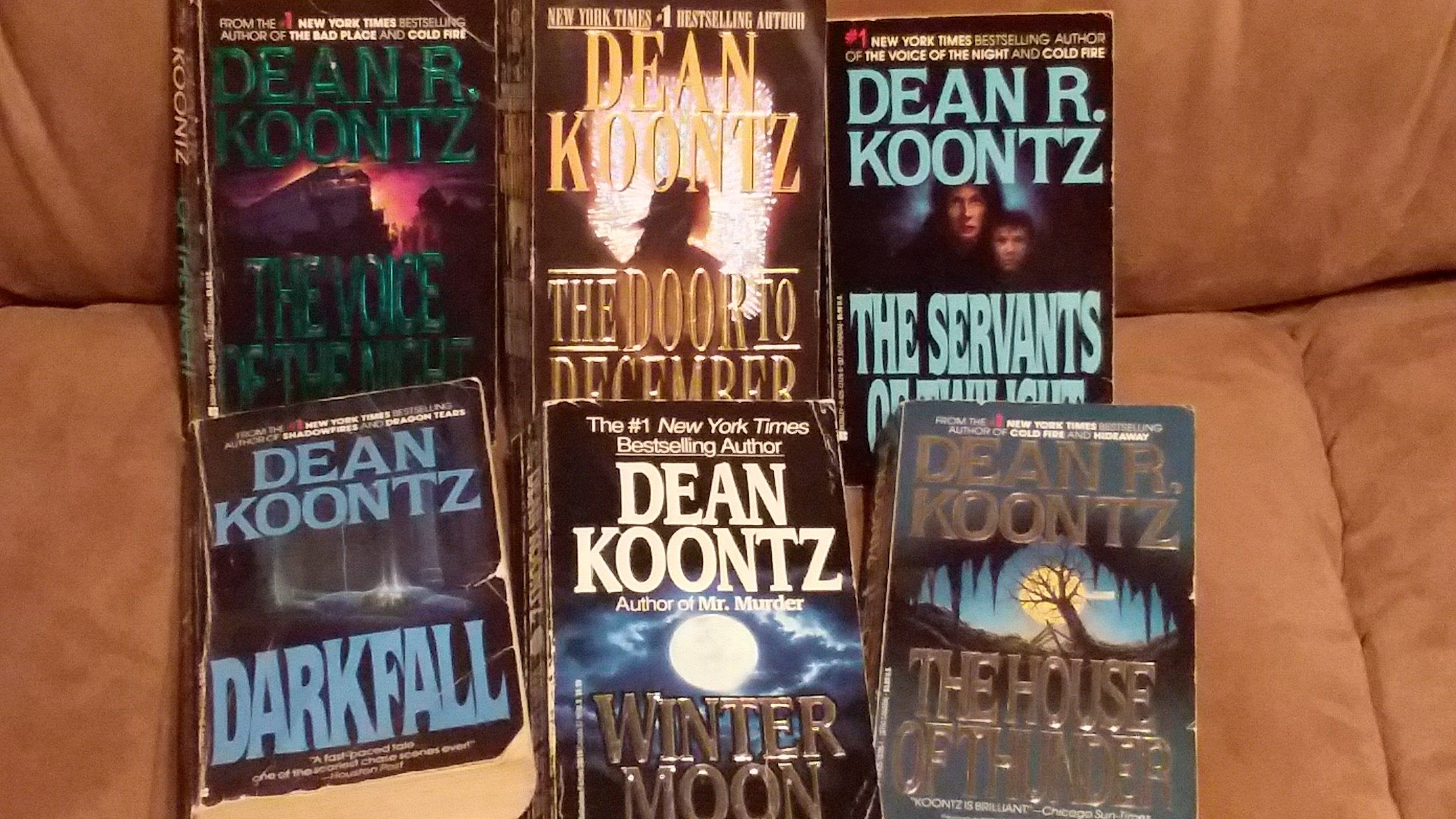 Dean Koontz Paperback Novels 6 Paperback Books Suspense Horror Thriller Darkfall Winter Moon Door To December The House Of Thunde Novels Winter Moon Paperbacks