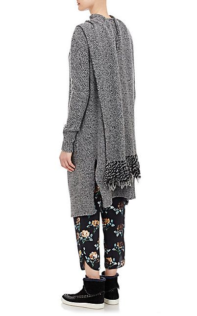 Thakoon Addition Scarf-Tie Open-Front Long Cardigan - Cardigan - Barneys.com