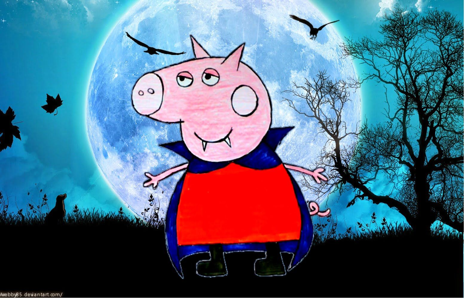 Peppa Pig Vampira novo Desenho - Dracula Peppa Pig 2016 video em portugu.
