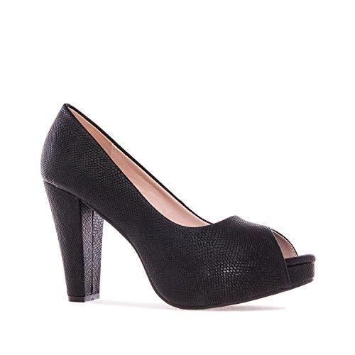 OSVALDO PERICOLI - Zapatos de vestir para mujer, color Negro, talla 38