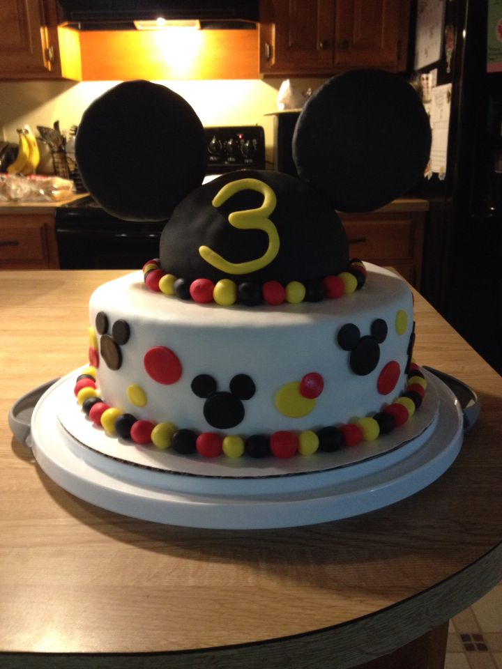 Masons 3rd Birthday Cake Mickey Mouse Clubhouse Homemade by April