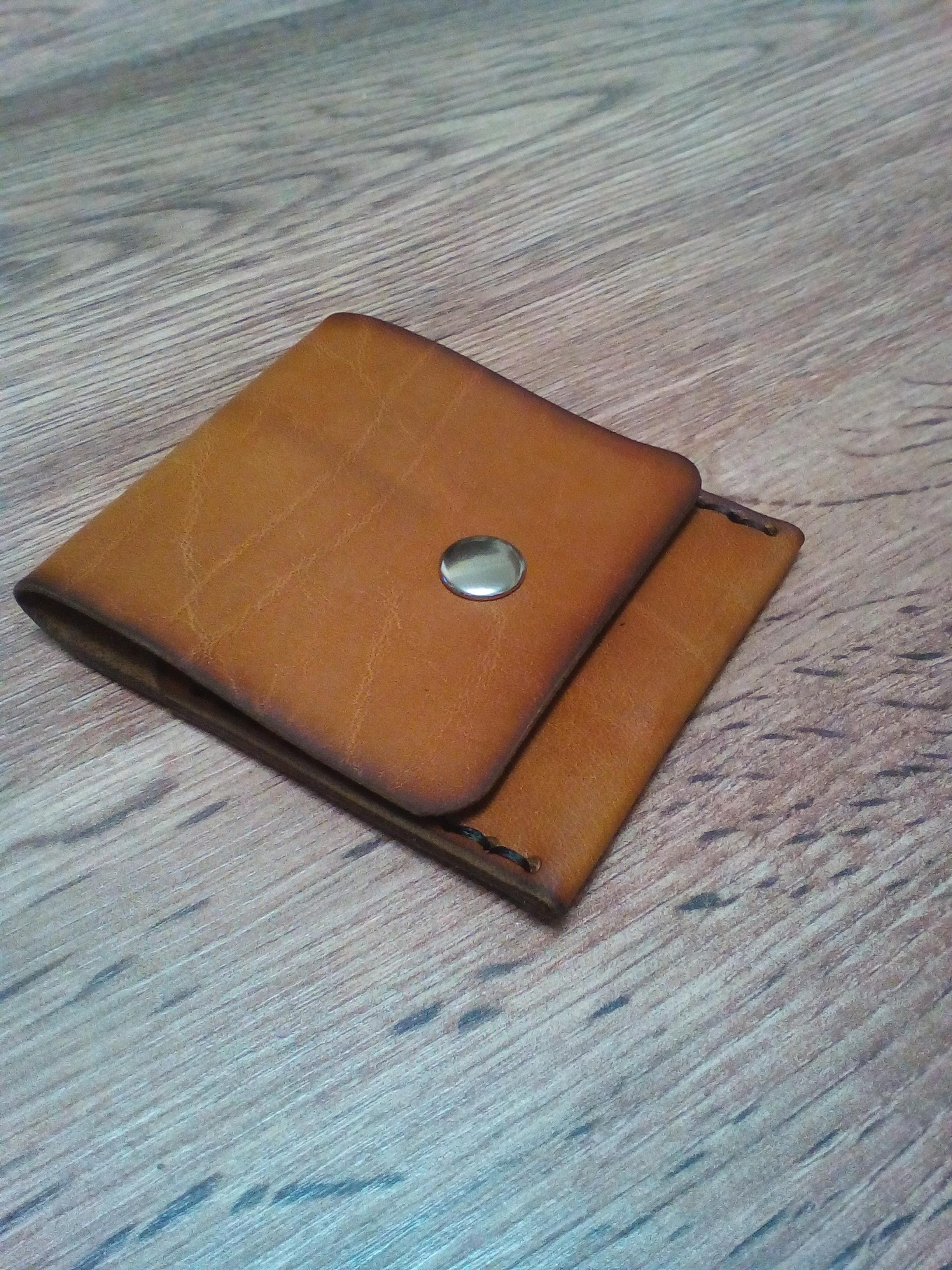 465e374a7ad0 Компактный и стильный кардхолдер ручной работы из натуральной кожи толщиной  1,2-1,